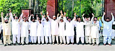 Nasir Bagh Lahore Punjab Teachers Union Protest on it peak in Punjab