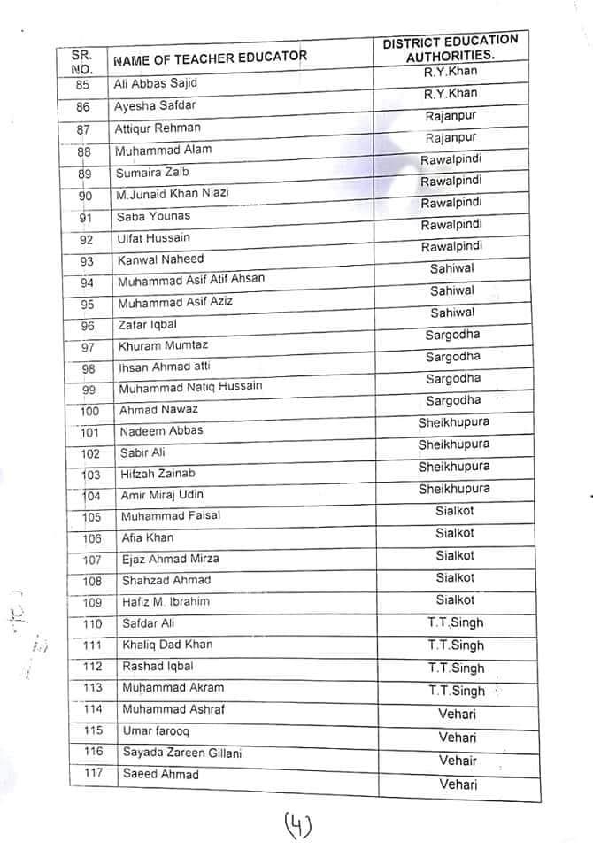 Ex Teacher Educator regularized in Punjab SCHOOL EDUCATION DEPARTMENT